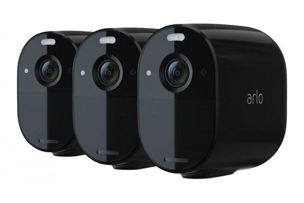 Large image of Arlo Essential Black 3 Spotlight Camera Kit - VMC2330B-100NAS