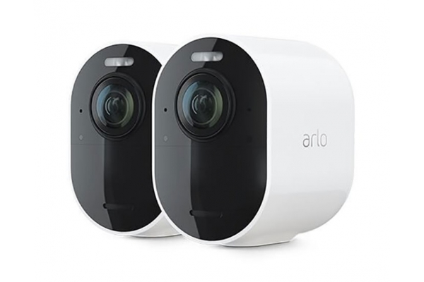 Large image of Arlo Ultra 2 White Spotlight Add-On 2 Camera Kit - VMS5240200NAS