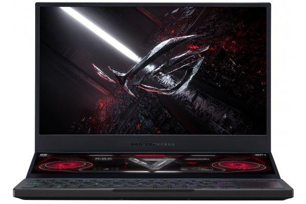 "Large image of Asus ROG Zephyrus Duo 15 SE Off Black 15.6"" Gaming Laptop AMD Ryzen 9 5900HX 32GB RAM 1TB SSD, NVIDIA GeForce RTX 3070 - GX551QR-XS98"