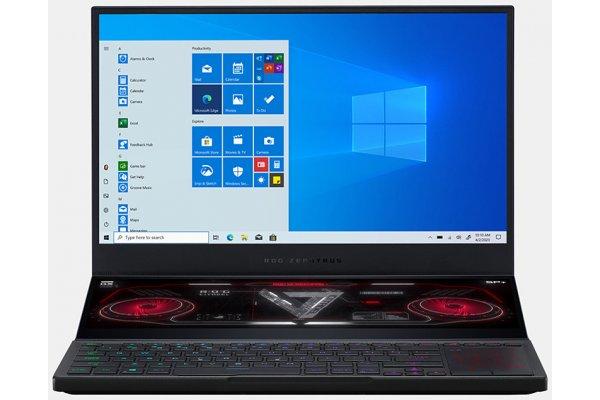 "Large image of Asus ROG Zephyrus Duo SE 15 Off Black 15.6"" Gaming Laptop AMD Ryzen 9 5900HX 32GB RAM 1TB SSD, NVIDIA GeForce RTX 3080 - GX551QS-XS98"