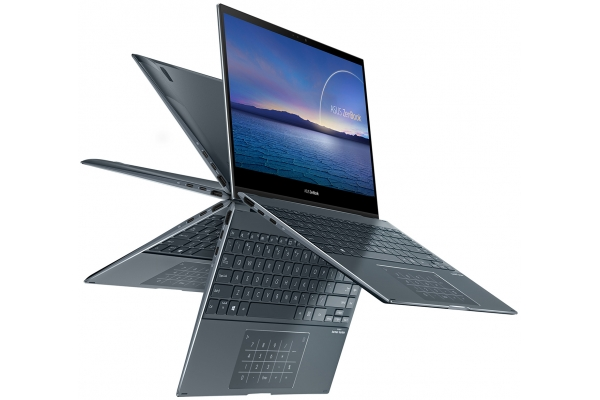 "Large image of Asus ZenBook Flip 13 Pine Gray 13.3"" Laptop Intel i5-1135G7 8GB RAM 512GB SSD, Intel Iris Xe Graphics - UX363EA-DH51T"