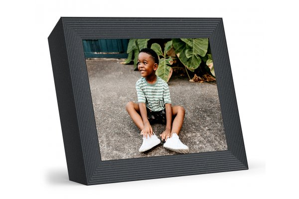 "Large image of Aura Mason Luxe 9.7"" Pebble Digital Picture Frame - AF700-BLK"