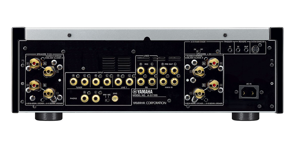 Yamaha Silver 160w Integrated Amplifier A S1100sl