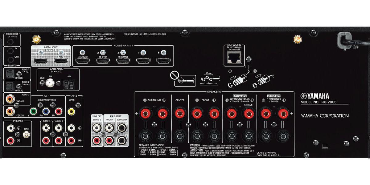 Yamaha Black 7 2 Channel Network AV Receiver
