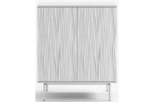 Large image of BDI Tanami 7120 Satin White Bar Cabinet - 7120-SW
