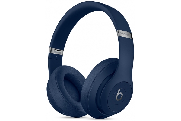 Large image of Beats By Dr. Dre Blue Studio3 Wireless Over-Ear Headphones - MX402LL/A