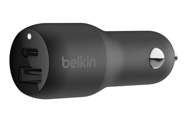Large image of Belkin BOOST UP CHARGE 32W USB-C PD + USB-A Car Charger - CCB003BTBK