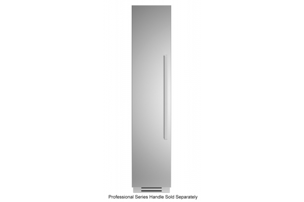 "Large image of Bertazzoni 18"" Stainless Steel Left-Hinge Built-In Freezer Column - REF18FCIPIXL"
