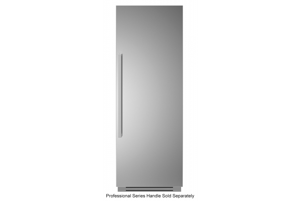 """Large image of Bertazzoni 30"""" Stainless Steel Right-Hinge Built-In Refrigerator Column - REF30RCPIXR"""