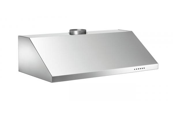 "Large image of Bertazzoni Professional Series 36"" Stainless Steel Wall Mount Canopy Hood - KU36PRO1X14"