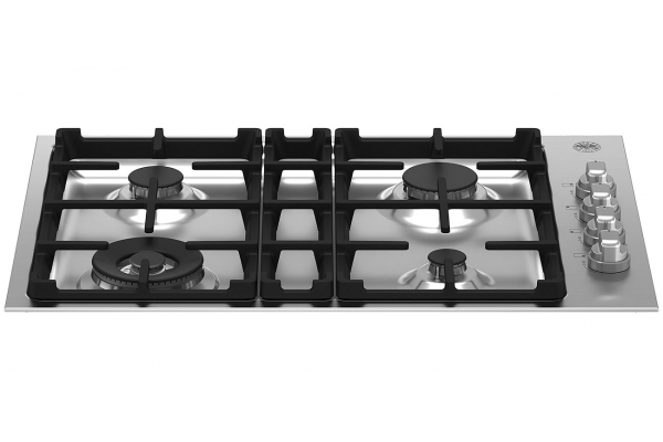 """Large image of Bertazzoni 30"""" Master Series Stainless Steel Drop-In Gas Cooktop With 4 Burners - MAST304QXE"""