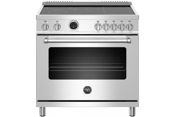 """Large image of Bertazzoni Master Series 36"""" Stainless Steel Induction Range, Electric Self-Clean Oven - MAST365INSXT"""