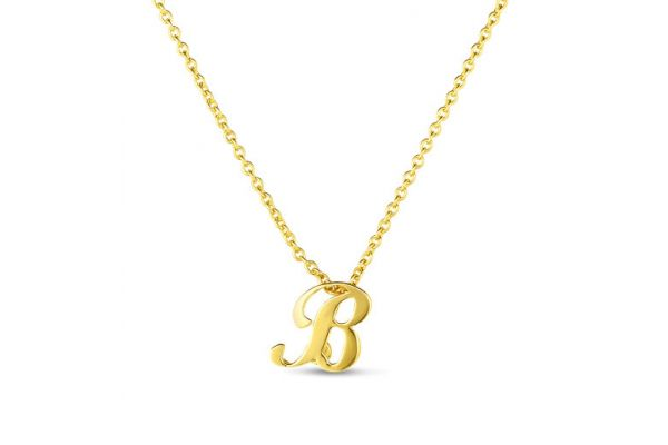 Large image of Roberto Coin 18K Small Script Initial 'B' Pendant - 000021AYCH0B