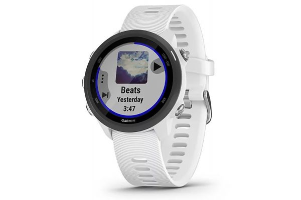 Large image of Garmin Forerunner 245 Music White Smartwatch - 010-02120-21