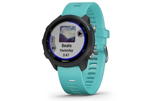Large image of Garmin Forerunner 245 Music Aqua Smartwatch - 010-02120-22