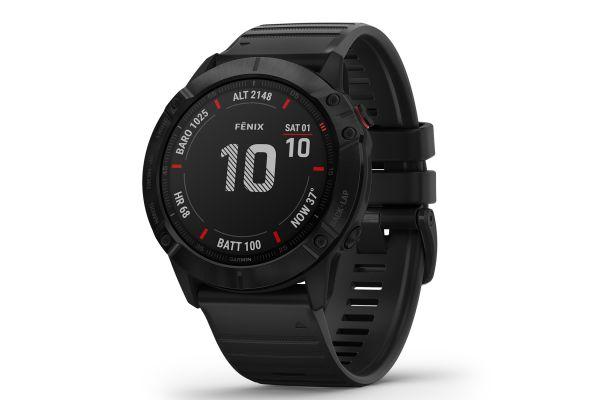 Large image of Garmin Fenix 6X Pro Black With Black Band GPS Multisport Smartwatch - 010-02157-00