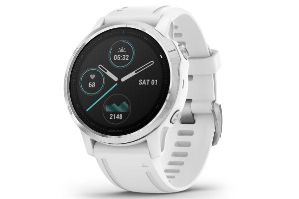 Large image of Garmin Fenix 6S White With White Band GPS Multisport Smartwatch - 010-02159-00