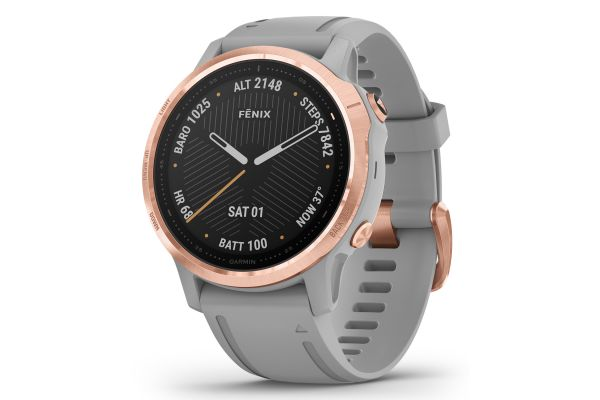 Garmin Fenix 6S Sapphire Rose Gold-tone With Powder Gray Band GPS Multisport Smartwatch - 010-02159-20