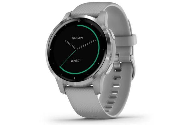Garmin vivoactive 4S Powder Gray Case With Silver Stainless Steel Bezel Smartwatch - 010-02172-01