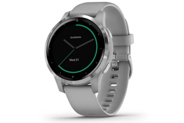 Large image of Garmin vivoactive 4S Powder Gray Case With Silver Stainless Steel Bezel Smartwatch - 010-02172-01