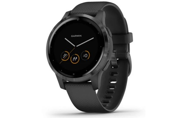 Large image of Garmin vivoactive 4S Black Case With Slate Stainless Steel Bezel Smartwatch - 010-02172-11