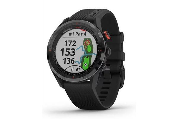 Large image of Garmin Approach S62 Black Ceramic Bezel With Black Silicone Band Smartwatch - 010-02200-00