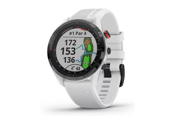 Large image of Garmin Approach S62 Black Ceramic Bezel With White Silicone Band Smartwatch - 010-02200-01