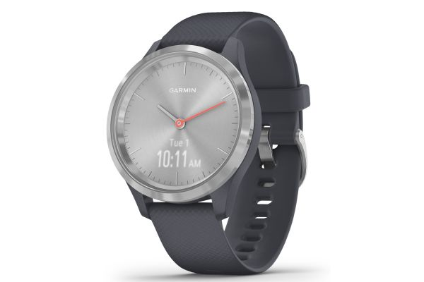 Garmin vivomove 3S Silver Stainless Steel Bezel With Granite Blue Case And Silicone Band Smartwatch - 010-02238-00