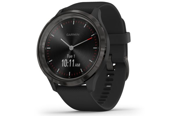 Garmin vivomove 3 Slate Stainless Steel Bezel With Black Case and Silicone Band Smartwatch - 010-02239-01