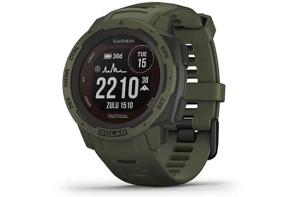 Large image of Garmin Instinct Solar Moss Tactical Edition GPS Watch - 010-02293-14