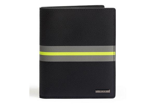 Large image of TUMI Province Black Stripe Passport Case - 0118822DSP