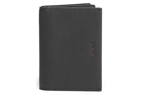 Large image of TUMI Nassau Grey Textured Gusseted Card Case - 01262156GRYT