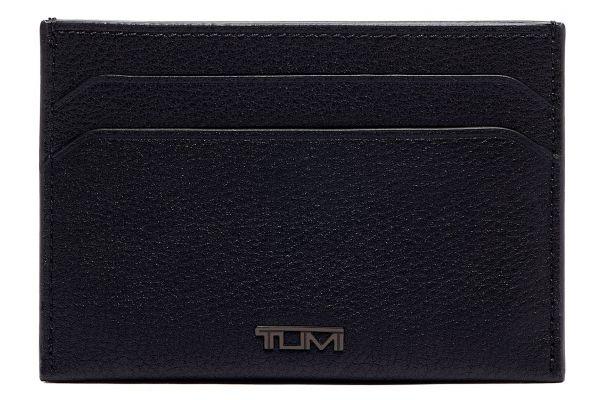 Large image of TUMI Nassau Black Textured Slim Card Case - 01262159DT