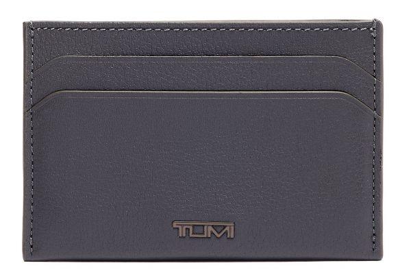 Large image of TUMI Nassau Grey Textured Slim Card Case - 01262159GRYT