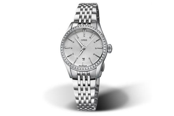 Large image of Oris Artelier Date Diamonds Automatic Stainless Steel Watch - 01561772249510781479