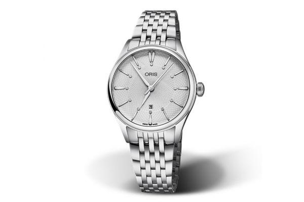 Large image of Oris Artelier Date Diamonds Stainless Steel Womens Watch - 01561772440510781779