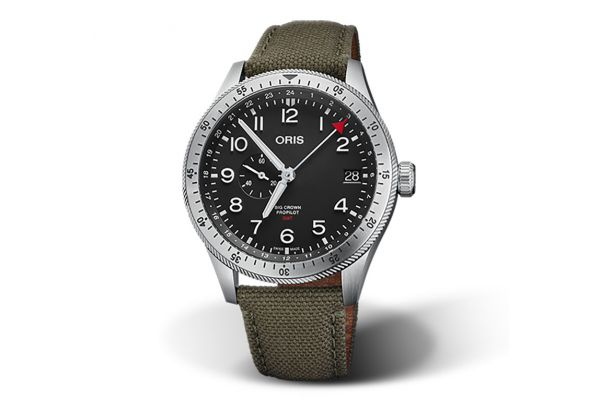 Large image of Oris Big Crown ProPilot Timer GMT Automatic Stainless Steel Mens Watch - 01748775640640732202LC