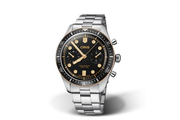 Large image of Oris Divers Sixty-Five Chronograph Stainless Steel Mens Watch - 01771774443540782118