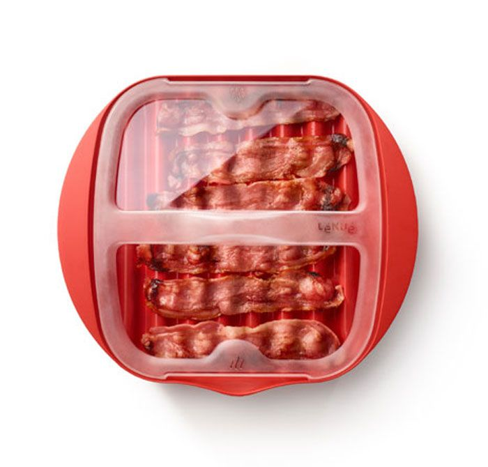 Lekue Red Microwave Bacon Cooker 0220250r14m500