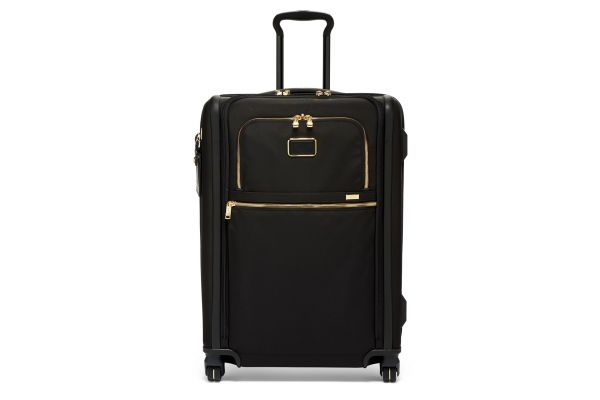 Large image of TUMI Alpha 3 Black/Gold Short Trip Expandable 4 Wheeled Packing Case - 02203064DG3