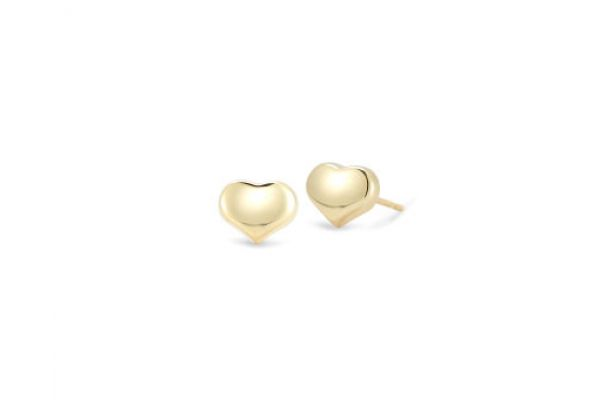 Roberto Coin 18KT Gold Heart Stud Earrings - 023238AYER00