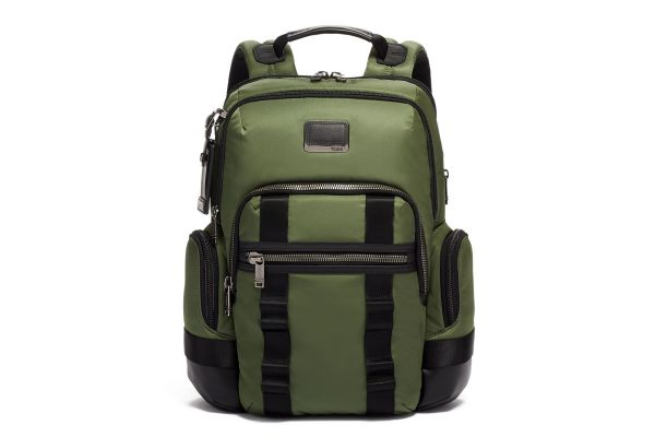Large image of TUMI Alpha Bravo Forest Green Nathan Expandable Backpack - 0232693FT