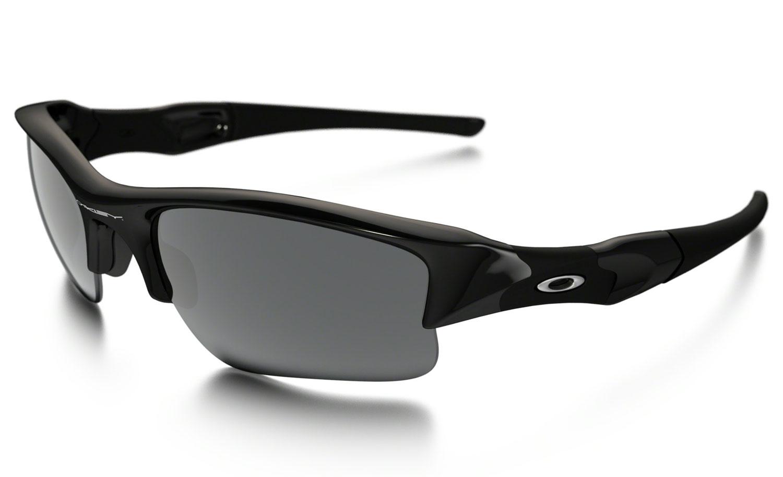 0827f02d5390 Oakley Jet Black Flak Jacket Semi-Rimless Mens Sunglasses - OO9009 03-915 63