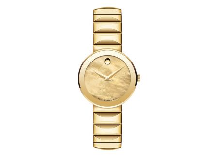 Movado Sapphire Yellow Gold PVD Womens Watch - 0607049
