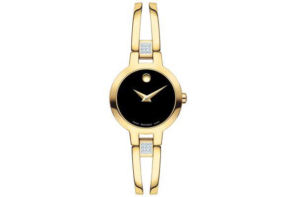 Large image of Movado Amorosa Gold-Tone Watch, 24mm - 0607155