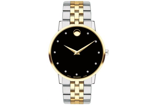 Large image of Movado Museum Classic 40mm Two-Tone Mens Watch - 0607202