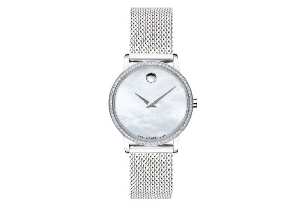 Large image of Movado Museum Classic 28mm Stainless Steel Womens Watch - 0607306