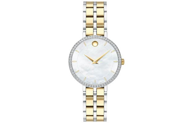 Large image of Movado Kora Two-Tone Stainless Steel Watch - 0607326