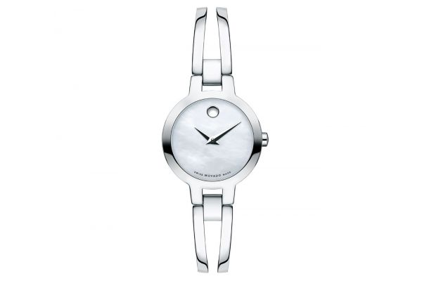 Large image of Movado Amorosa 24mm Stainless Steel Womens Watch - 0607357