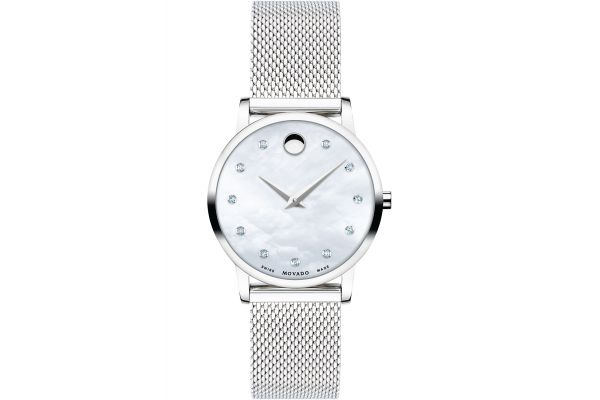 Large image of Movado Museum Classic 28mm Stainless Steel Watch - 0607491